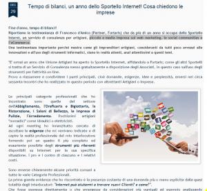 Screen Shot Blog Unione Artigiani